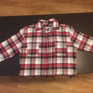 Merona red flannel